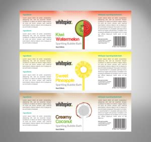 designcrowd white label colorful modern hair and beauty label design for white