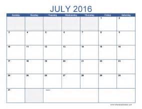 July 2016 calendar template monthly calendar 2016 pdf excel image