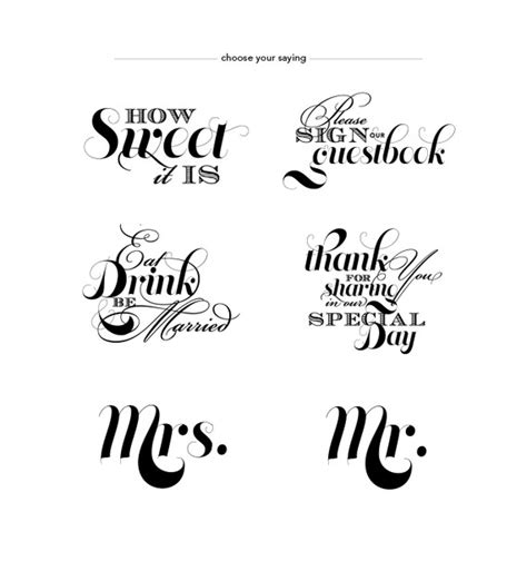 Wedding Phrases by Simply Pretty Wedding Signs And Sayings