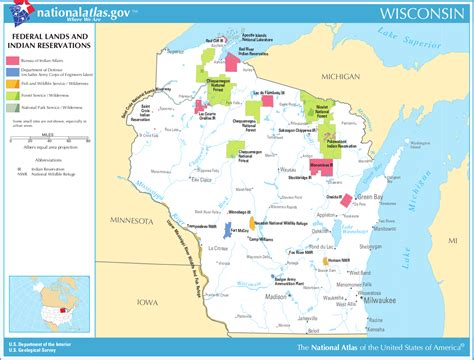 indian reservations usa map map of wisconsin map federal lands and indian