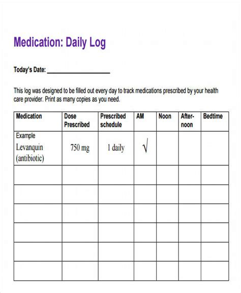 medication spreadsheet template 43 log templates