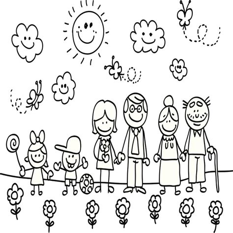 imagenes para pintar la familia dibujos de familia para colorear e imprimir