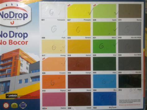 katalog warna cat no drop cat pelapis anti bocor tips jual no drop cat pelapis anti bocor uk 1kg baru