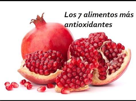 los alimentos  mas antioxidantes youtube