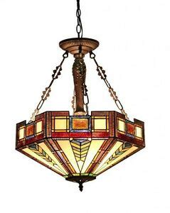 tiffany style light fixture dining lamp stained glass