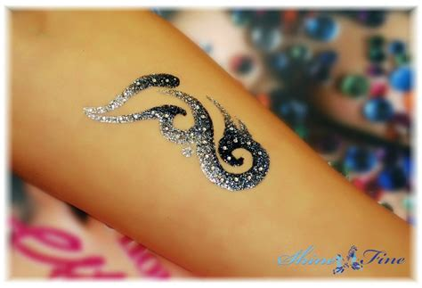 glitter tattoos glitter designs shimmery temporary tattoos