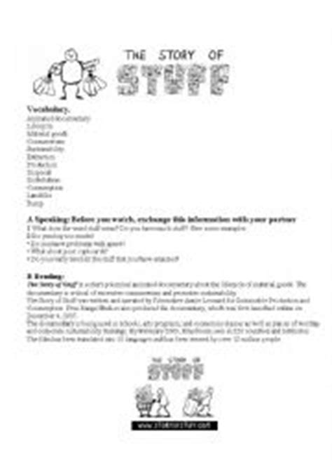 The Story Of Stuff Worksheet by Worksheets The Story Of Stuff