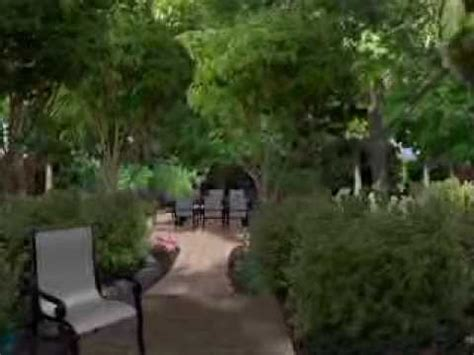how to do backyard landscaping landscape design for a mature woods backyard youtube