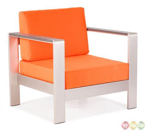 outdoor armchair cushions cosmopolitan orange arm chair cushions zuo modern 701841