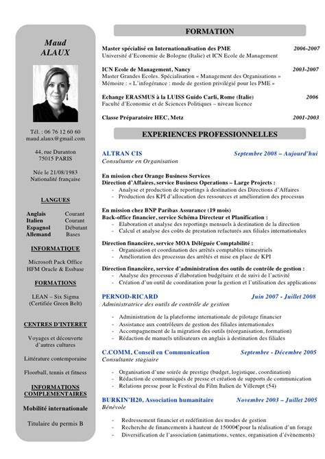 Resume D by Exemple Cv Directeur Financier