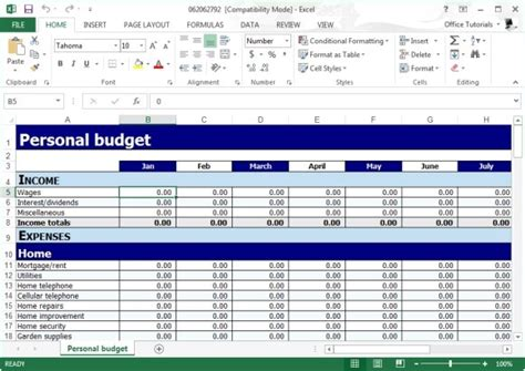 budget planner template excel free personal budget planner template for excel