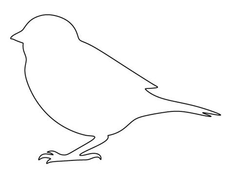 printable bird template sparrow pattern use the printable outline for crafts