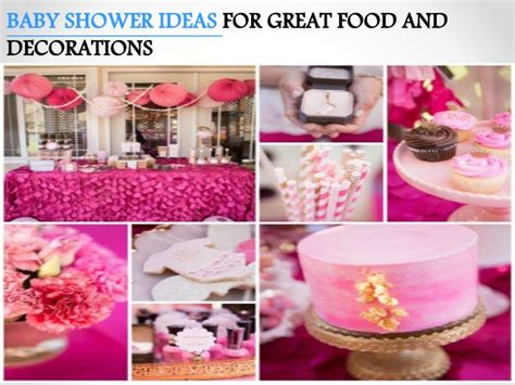Great Baby Shower by Baby Shower Ideas For Great Food And Decorations