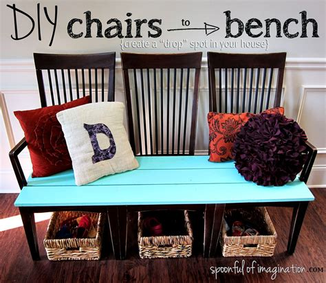 chair bench diy repurpose old kitchen chairs spoonful of imagination
