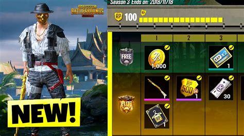 pubg upgrader pubg mobile season 3 all level 100 royal pass items