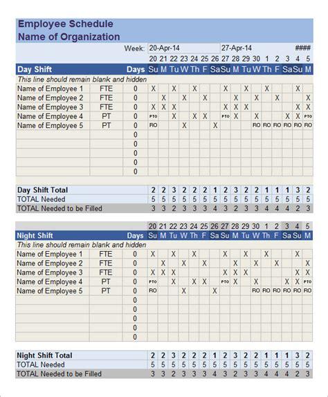 amazing blank work schedule template free printable schedules weekly