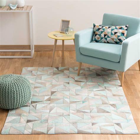 tappeti in cuoio tappeto in cuoio 160 x 230 cm oscope maisons du monde