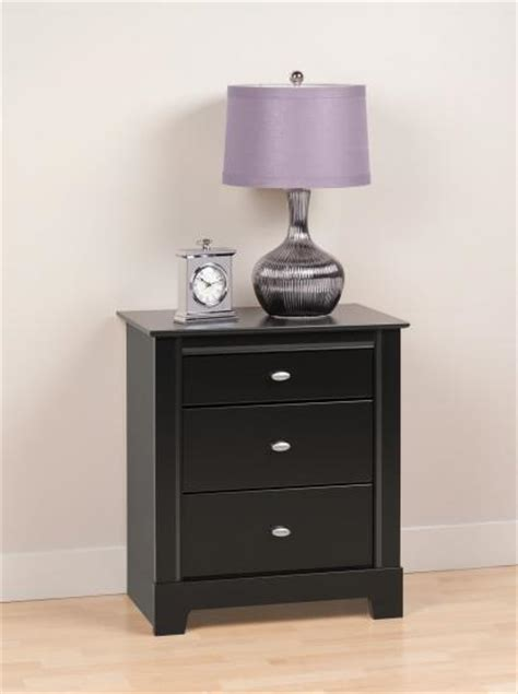 how tall should nightstands be prepac kallisto 3 drawer tall night stand in black bdnh