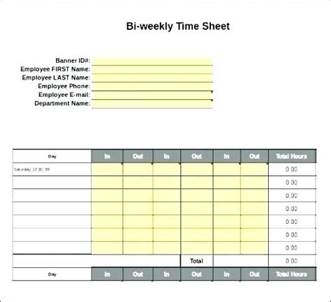 daily timesheet template excel 2010 sle excel employee timesheet template