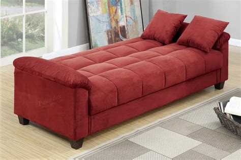 red fabric sofa bed poundex gertrude f7890 red fabric sofa bed steal a sofa