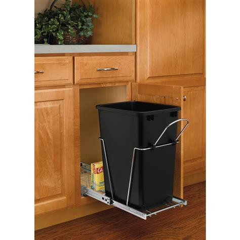 shop rev a shelf 35 quart plastic pull out trash can at