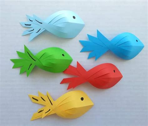 Paper Fish Craft - paper fish for crazzy craft