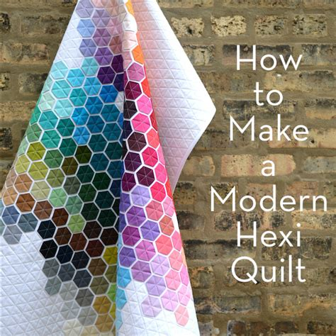 Upholstery Fabric Dyeing Service Make It Modern Hexagon Quilt 187 Curbly Diy Design Amp Decor