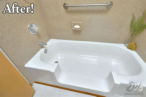 easy step bathtub to shower conversion easy step archives miracle method surface refinishing blog