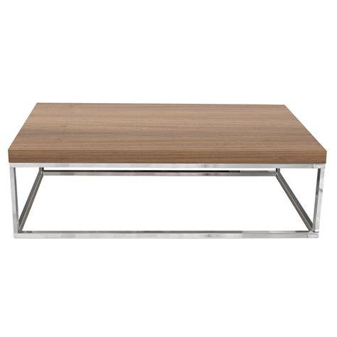 Prairie Walnut Chrome Modern Coffee Table By Temahome Chrome Coffee Tables