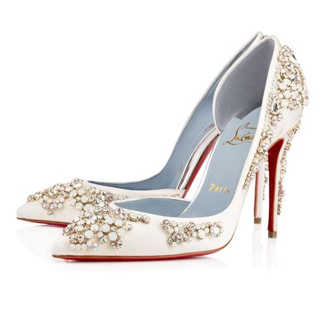 Buy Bridal Shoes by Ivory Crepe Satin Satin Lurex Shoes Christian
