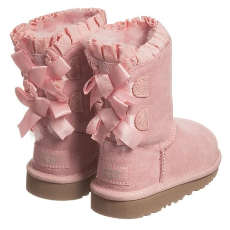 pink ugg boots with bows ugg australia pink bailey bow ruffles sheepskin
