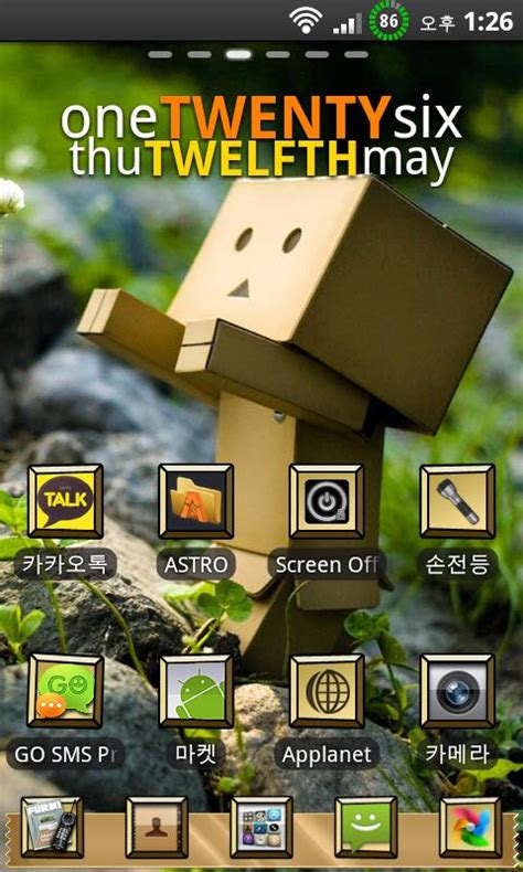 themes for android box theme box robot go launcher android app eodumbyel