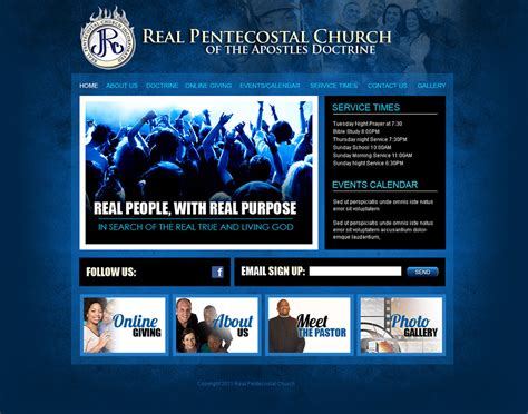Church Website Design And Church Logo Design Church Website Templates