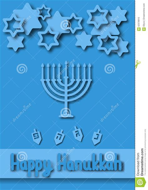 hanukkah card template hanukkah greeting card stock vector image 62378810
