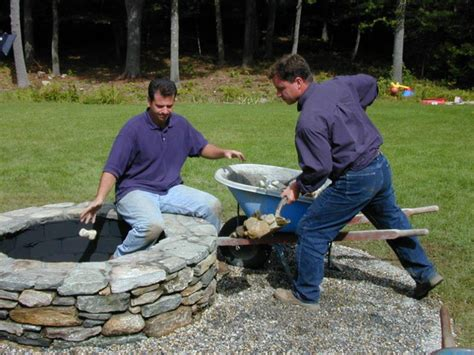 building a pit with rocks landscaping ideas build a pit