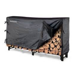 shop landmann usa metal firewood storage with cover at