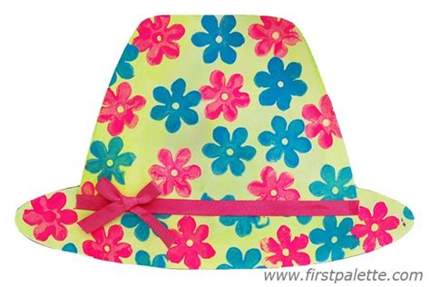 How To Make A Sun Hat Out Of Paper - easy paper hat craft crafts firstpalette