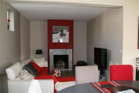 deco salones d 233 co salon gris et rouge