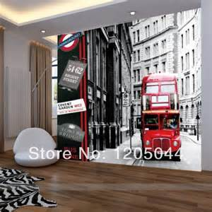 Wall Stickers London free shipping london city buses large living room bedroom