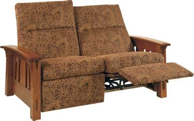 mission style loveseat recliner mccoy loveseat recliner indiana amish loveseat recliner