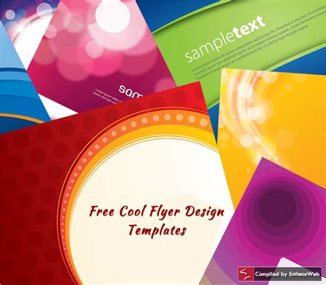 free cool flyer design templates entheos