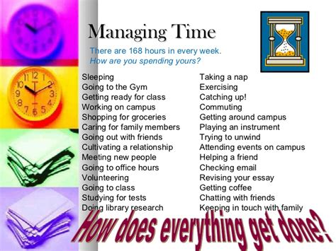 Management Student time management for college students