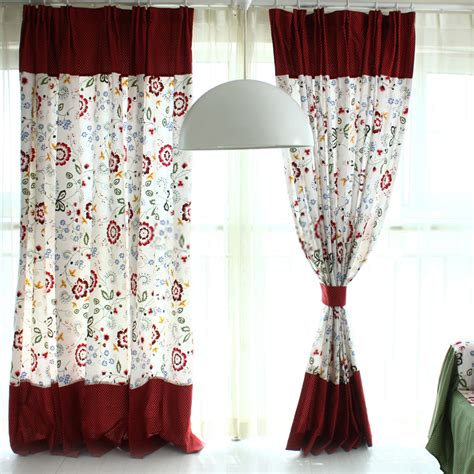 Big Floral Curtains And Drapes In Country Style