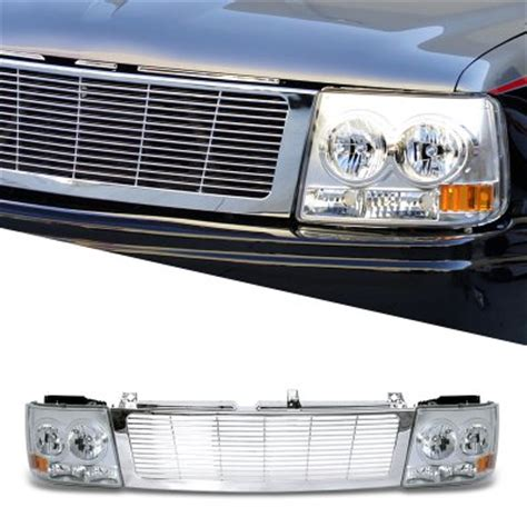 chevy suburban 2000 2006 chrome grille and headlight facelift conversion kit a101v0uf184
