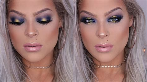 tutorial makeup pac gold and blue halo eye makeup tutorial valerie pac youtube