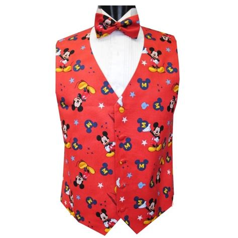 Mouse Tosca Tie Set mickey mouse superstar tuxedo vest and bow tie set