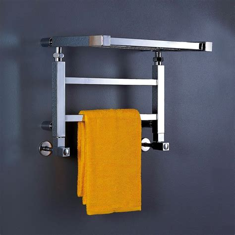 500mm w x 350mm h quot denbigh quot chrome shelf heated towel
