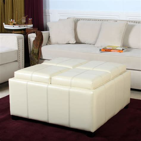 white leather storage ottoman 25 white leather ottomans square rectangle