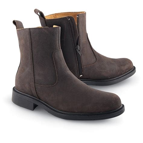 mens dress zipper boots s rockport 174 harrison side zip boots bitter