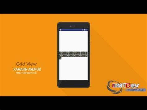 xamarin grid tutorial xamarin android tutorial custom gridview image and text